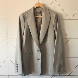 Vince Putty Grey Blazer Size 6